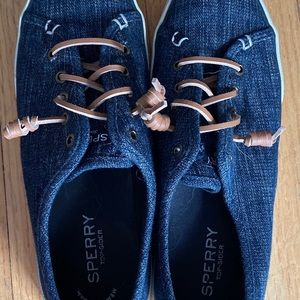 Sperry denim sneakers, used, no flaws. 8.5